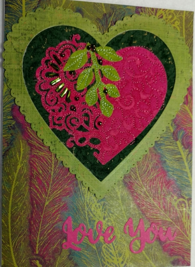 Lace Heart Card Ragtime Designs