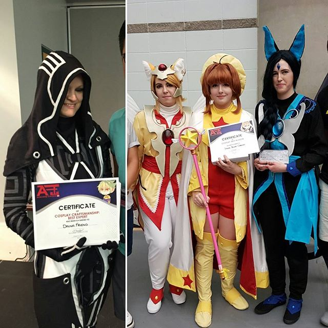 Being one of the sponsors for Animethon was a success last weekend! We presented the best Cosplay Best in Show and Craftmanship award! #animethon23 #anime #print3d #3d #yeg #costume