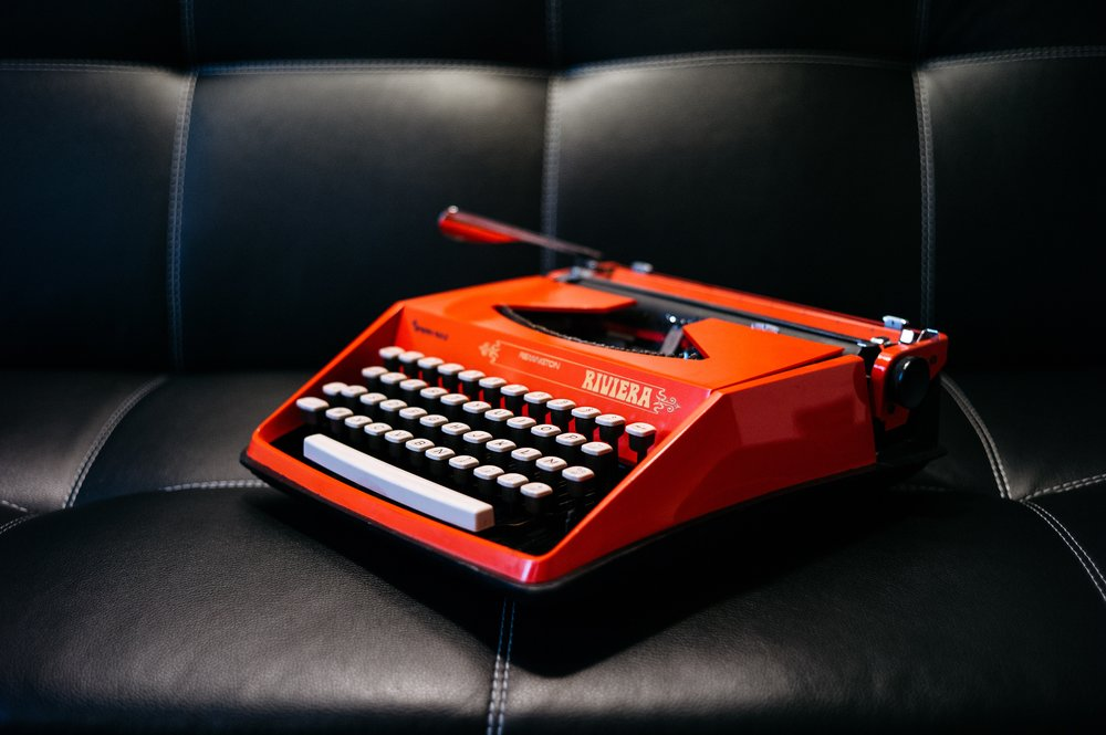 Okay, so forms aren't actually filled out on typewriters anymore, but isn't this a cool typewriter?