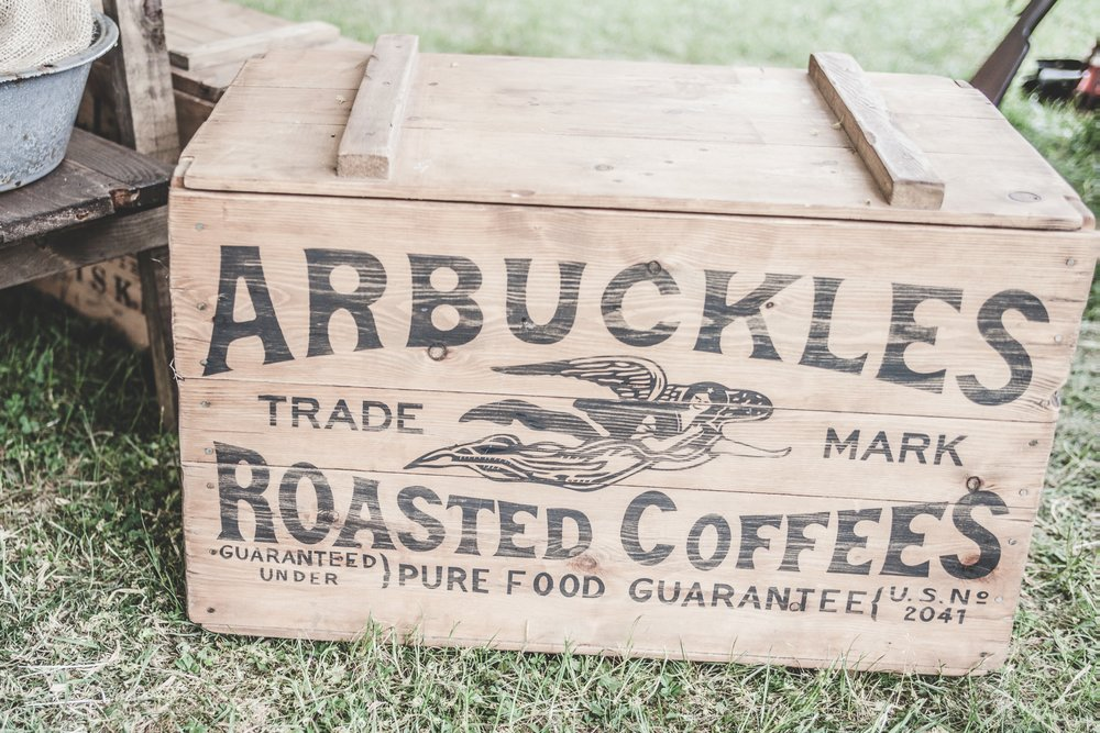 Ah, the irony of using an old-fashioned logo that says Trademark on the Trademark page only because the trademark is probably no longer valid or enforceable. Too bad, so sad Arbuckles Roasted Coffee.
