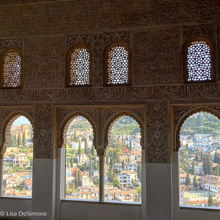 A view of lovely Grenada from inside the Alhambra