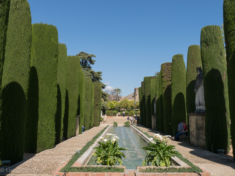The gardens of the Alcazar in Cordoba, Spain