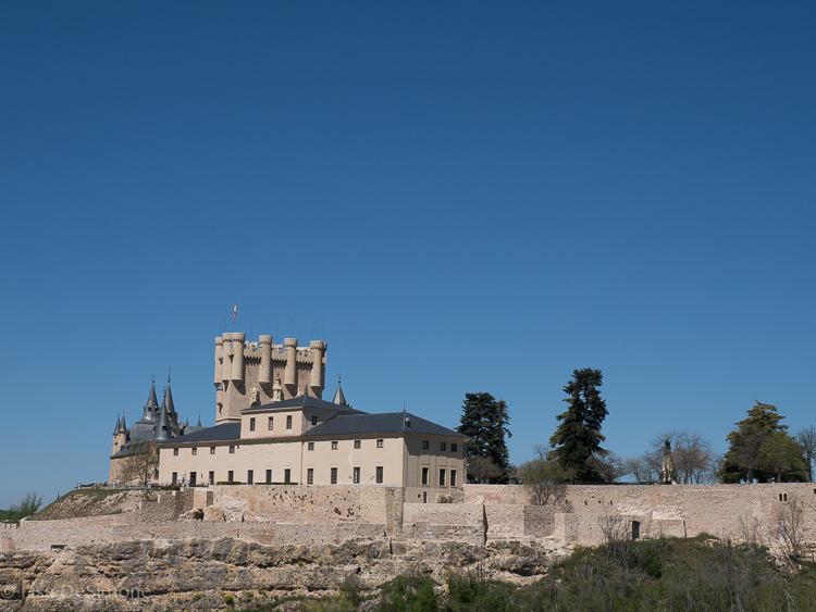 Views of the Alcazar from outside the city walls