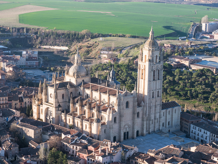A view of the Catedral from the hot air balloon