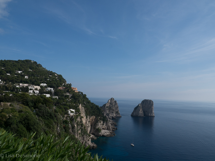 Views of the faraglioni, Capri's most famous natural landmarks