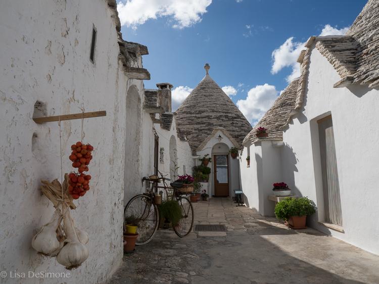 A residential street in Alberobello