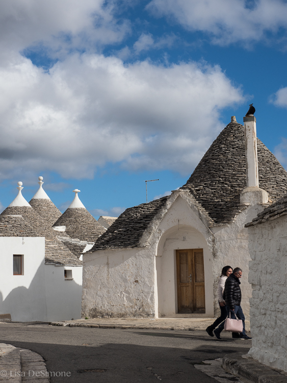 The residential section of Alberobello