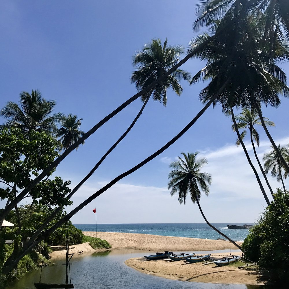 The beach at Anantara Tangalle Peace Haven resort
