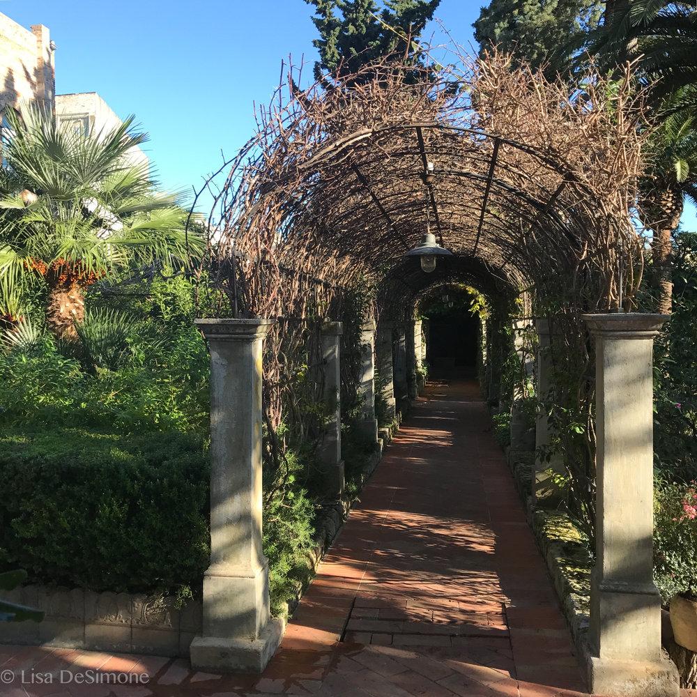 The gardens at Palazzo Margherita