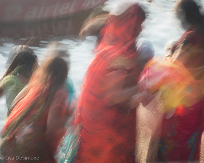 A burst of color on the Ganges River in Varanasi, India
