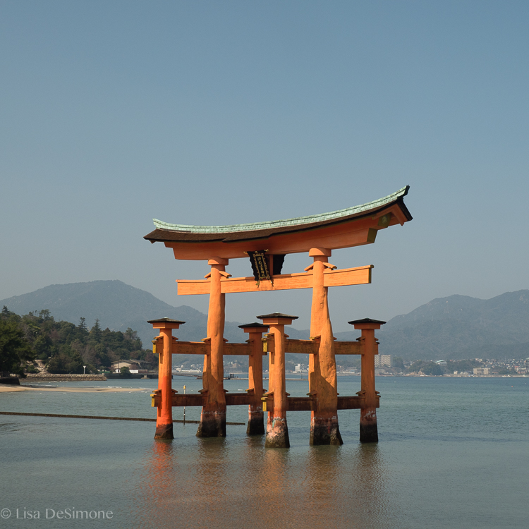 O-Torii, the Grand Gate, sits in the sea off the coast of Miyajima Island