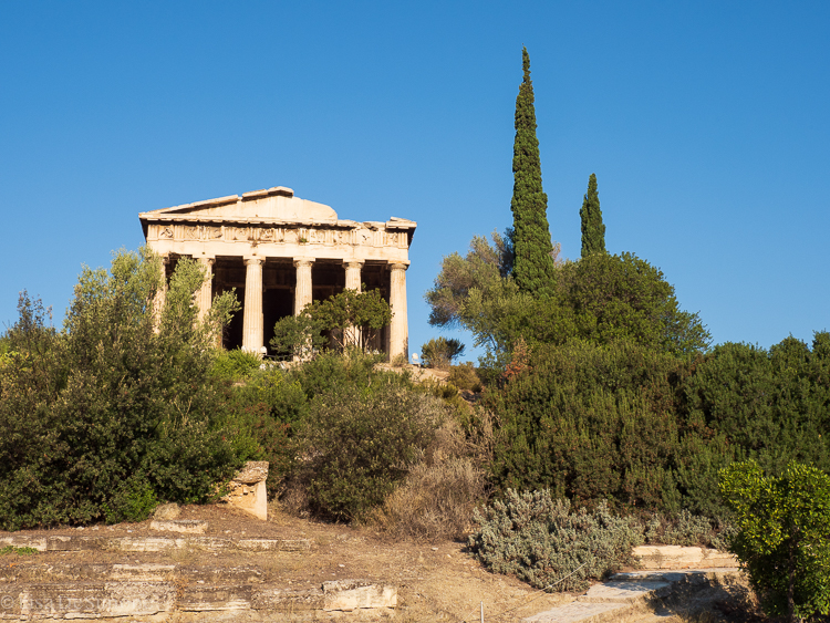 At the Ancient Agora (meeting place)