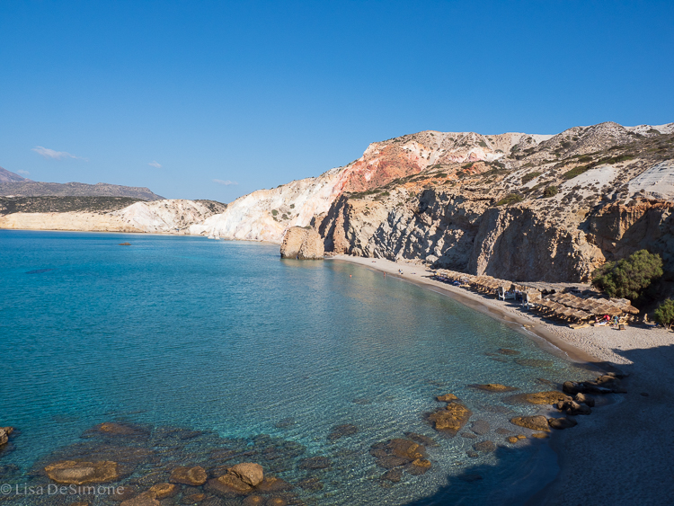 One of the many beautiful beaches on Milos