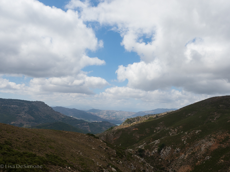 There are lots of hills on the island of Crete