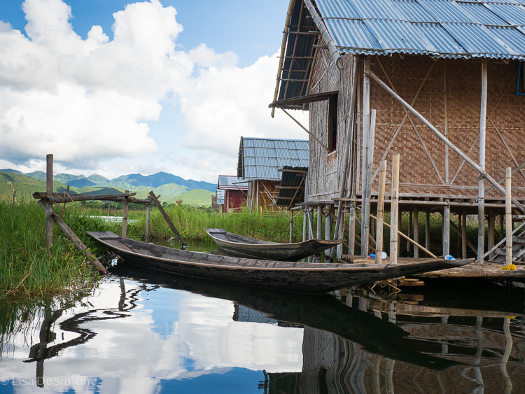 One of many stilt homes found on Inle Lake