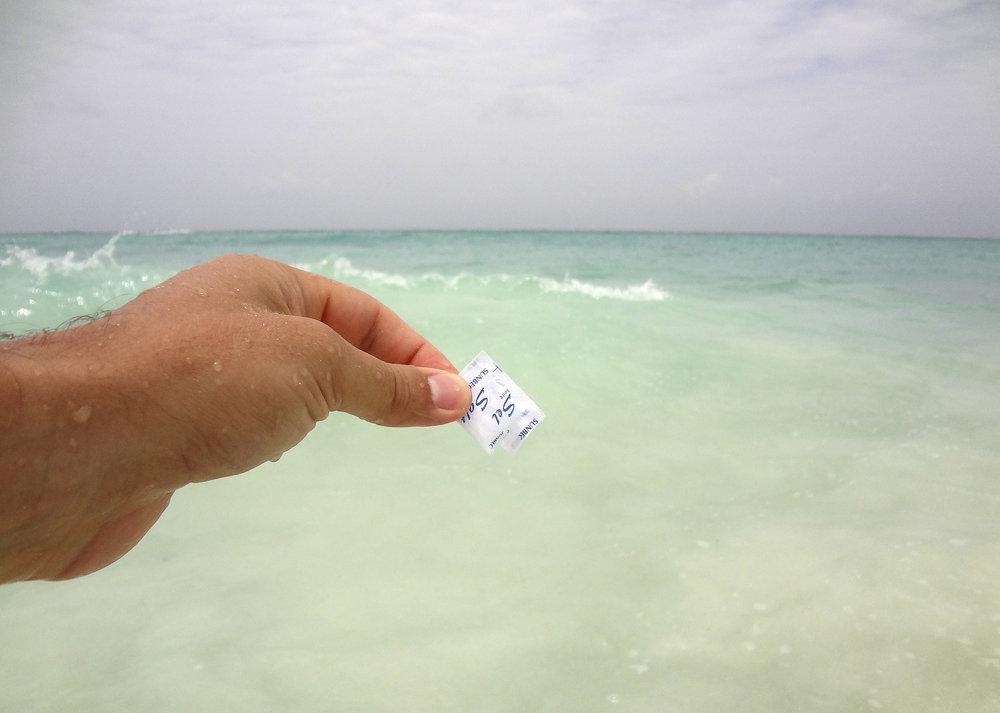 Steve Giasson, Performance invisible no 7 (Ajouter une pincée de sel dans la mer.)