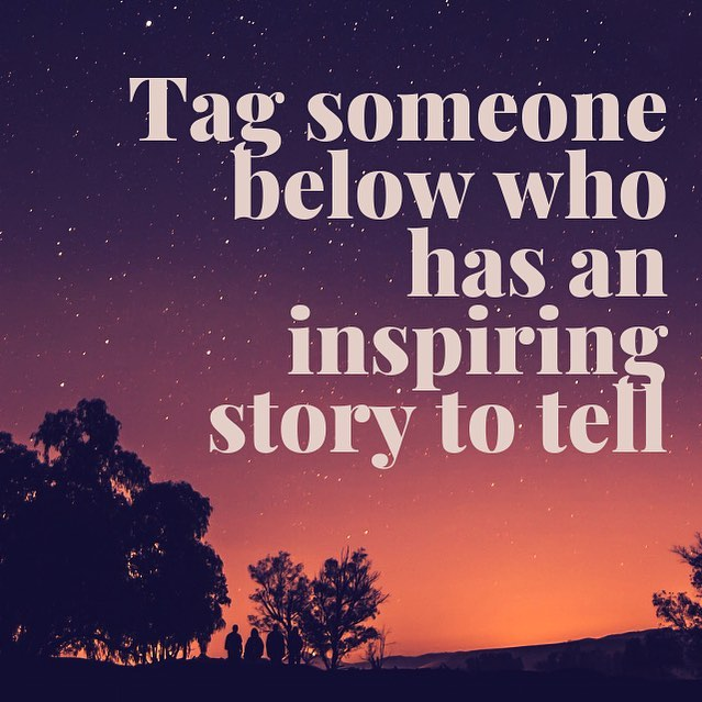 Tag anyone who has a story that inspires you! I'd love to hear from them! #mondaymotivation #inspo #inspiringstory #truestory #letshearfromthem