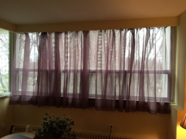 I put up the curtains in the living room! Yes we know they are see through..