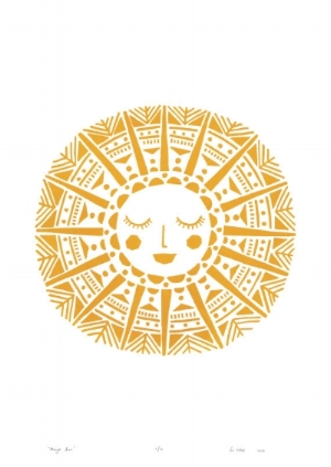 Beautiful Maya Sun print by  Lu West Studio