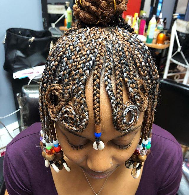 She designed, I add ideas, and voila !!! Before  #khadi #khadihair #khadihairjerseycity #jerseycity #newjersey #hairbraiding #africanhair #africanfood #africanbraider #smallbusiness #hairstylist #comehere #braidhere #braidstyles #protectivestyles #blackhair #blackhairflair #kazejewelz #beadsandbraids #blackbeauty #africanbeauty #naturalhair #naturalhairstyles #hairpuffs #cornrows #braids #blackbraids #fubu #forusbyus #braiding