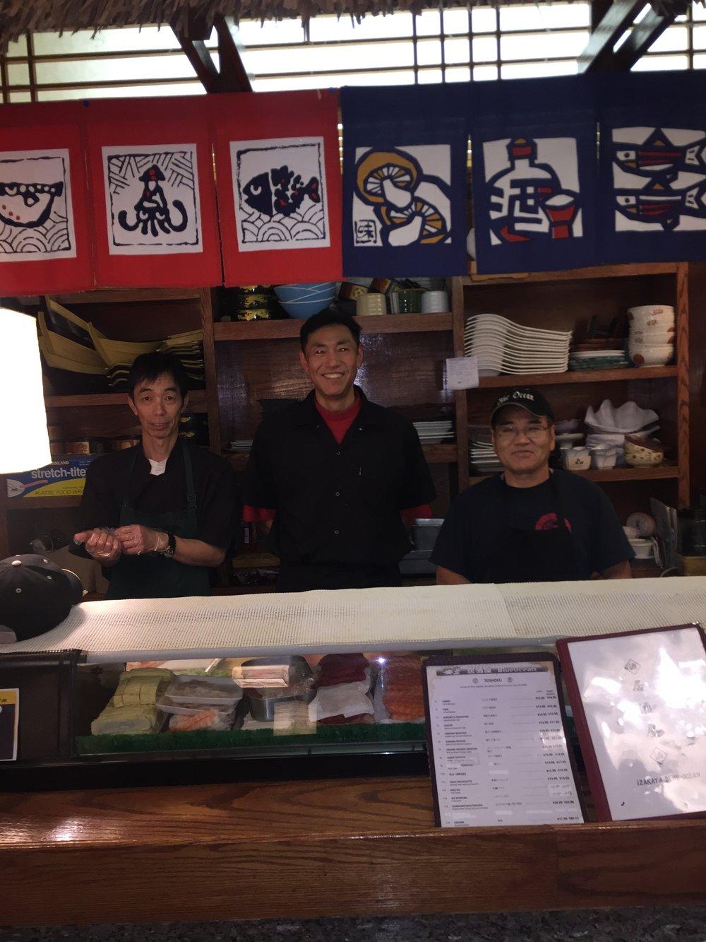 The chefs of Blue Ocean      (Tadayoshi, Inomata, Fukuyama)