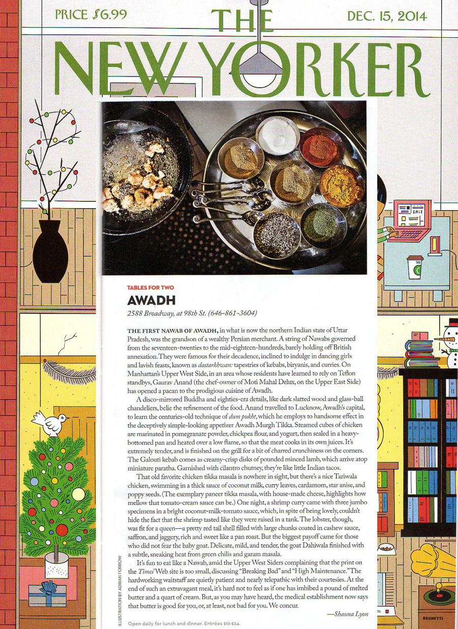 on Mahattan's Upper West Sid...Gaurav Anand has opened a paean to the prodigious cuisine of Awadh -