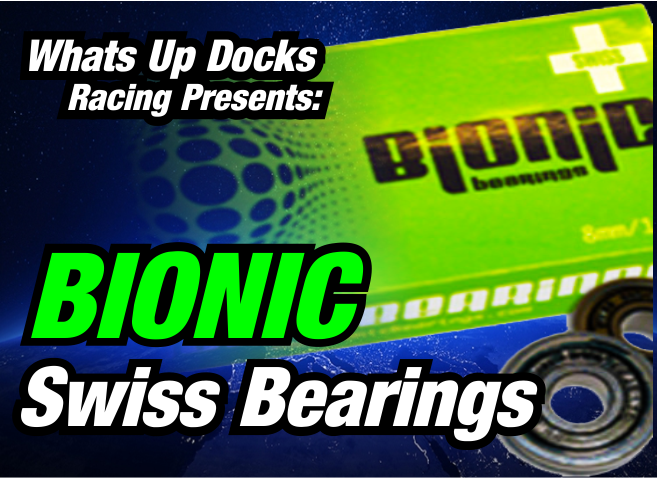 BIONIC Swiss Bearings - Bionic SWISS features deeper grooves, double honed races for smoother, faster and longer lasting bearings and cages made of Delrin®, a DuPont product