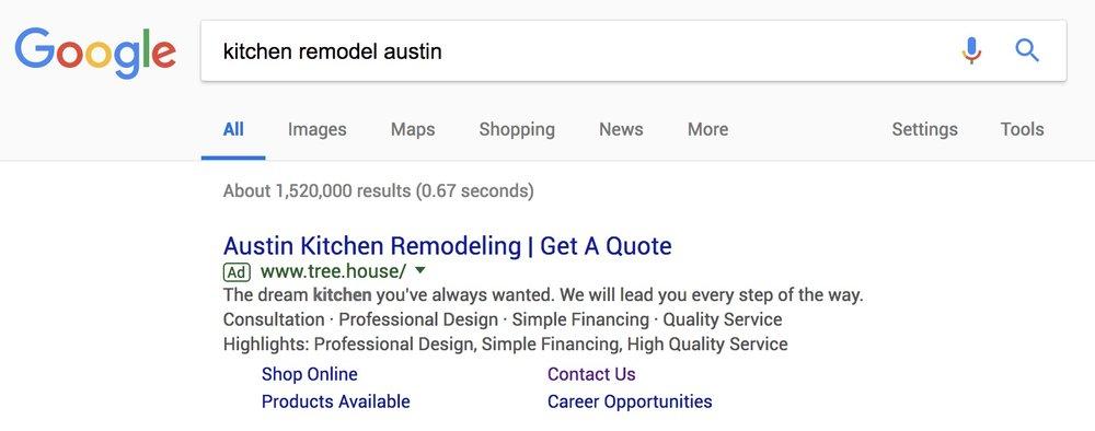 PPC Search Ad