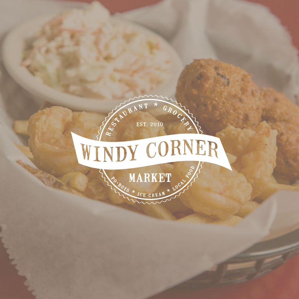 Windy Corner Shrip and Grits PoBoy Sandwich Craft Beer