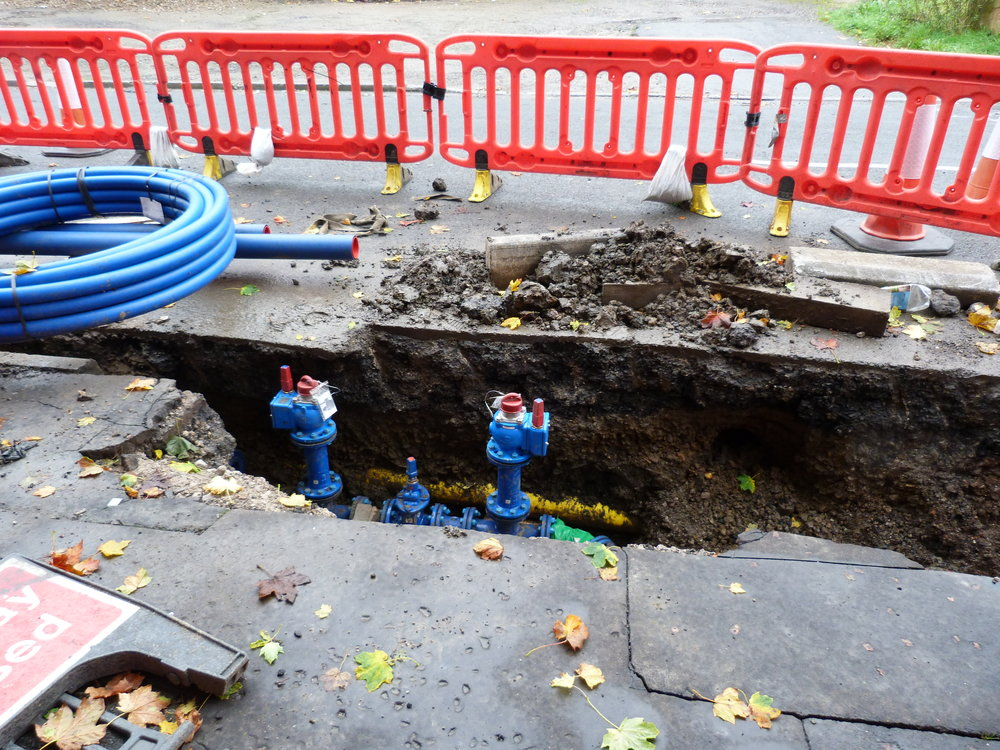 New water mains