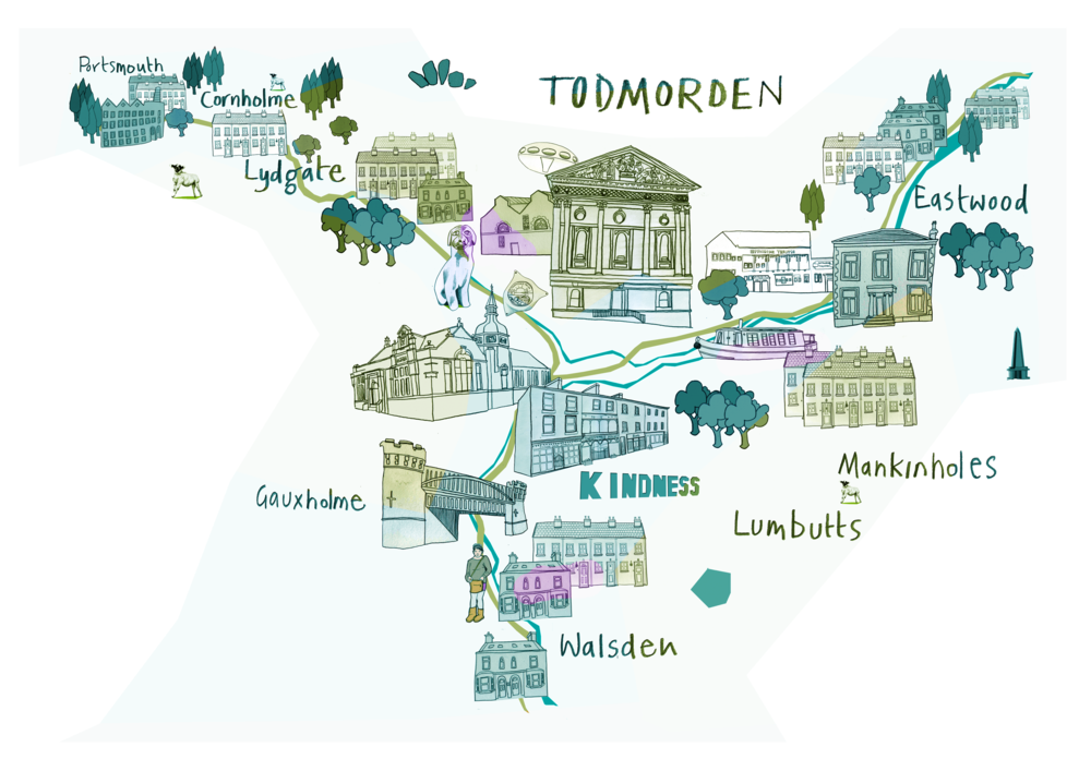 Map of Todmorden