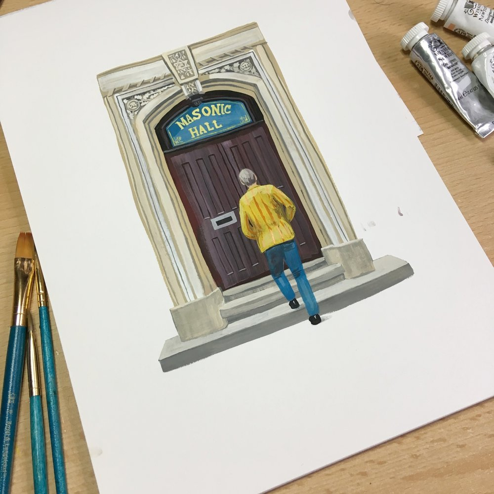 Masonic Hall Door (a work in progress)