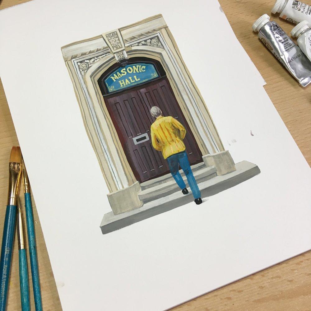 Masonic Hall Door (a work in progress)