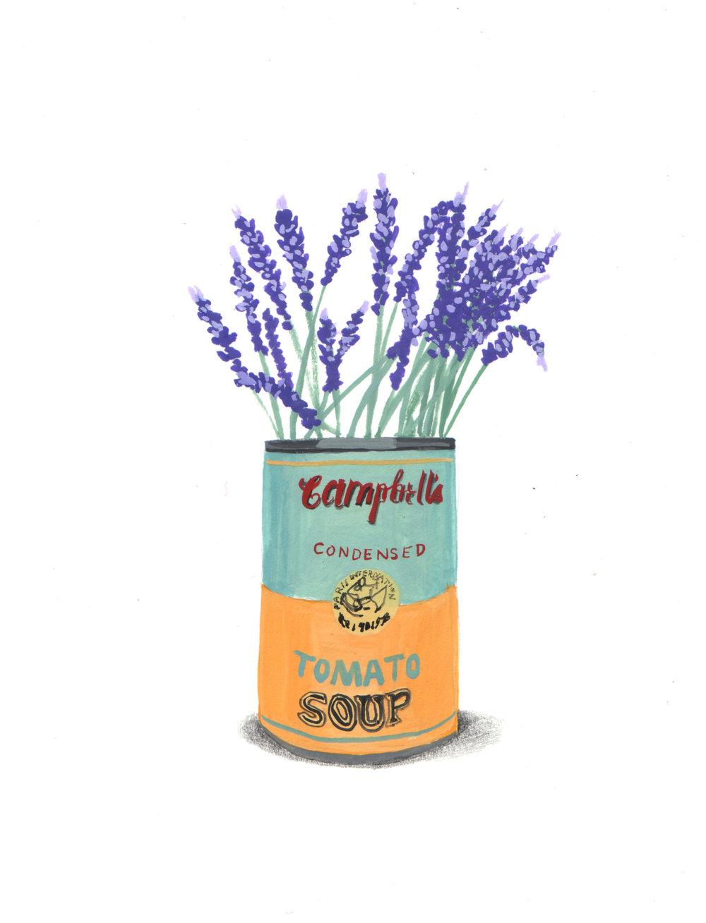 Homage to Warhol in Lavender