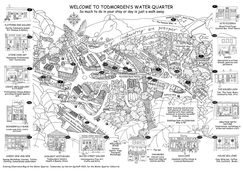 The Evolving Illustrated Map of the Water Quarter, Todmorden
