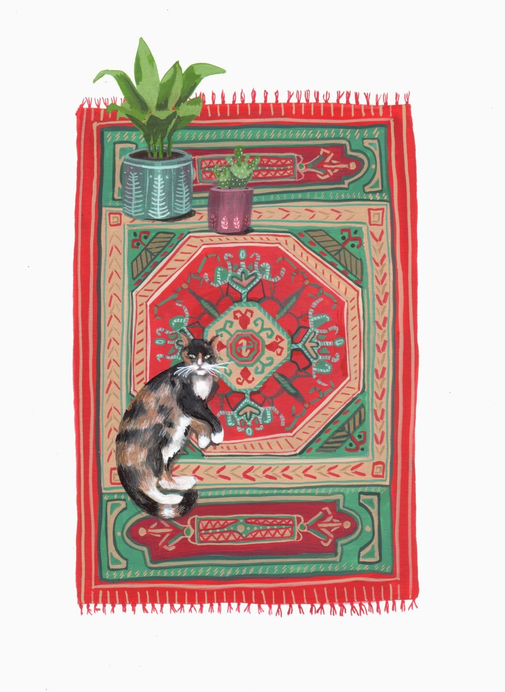 Cat on a Rug No. 2