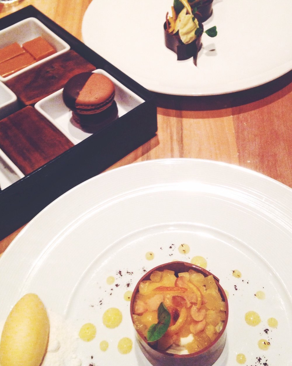 indys chicest boutique hotel: dessert at cerulean