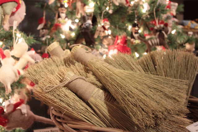 handmade brooms at shaker village | Em's on the Road
