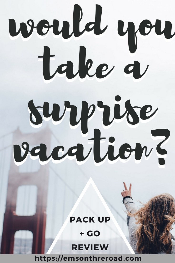 Pack Up + Go Surprise Travel Agency