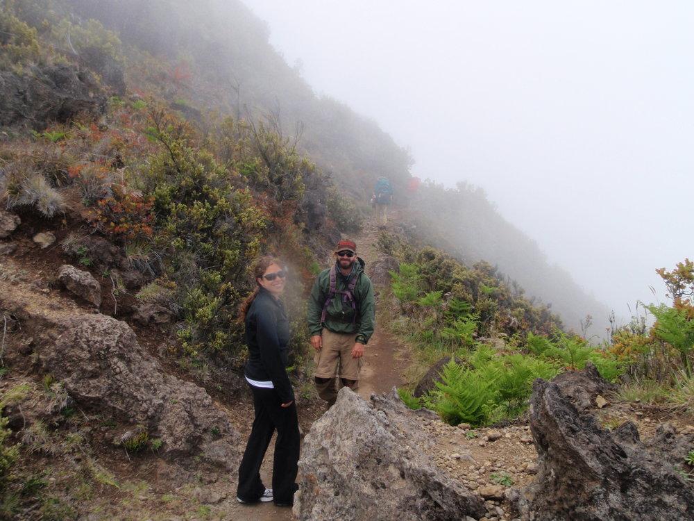 Hiking at Haleakala. Look at these babies?!