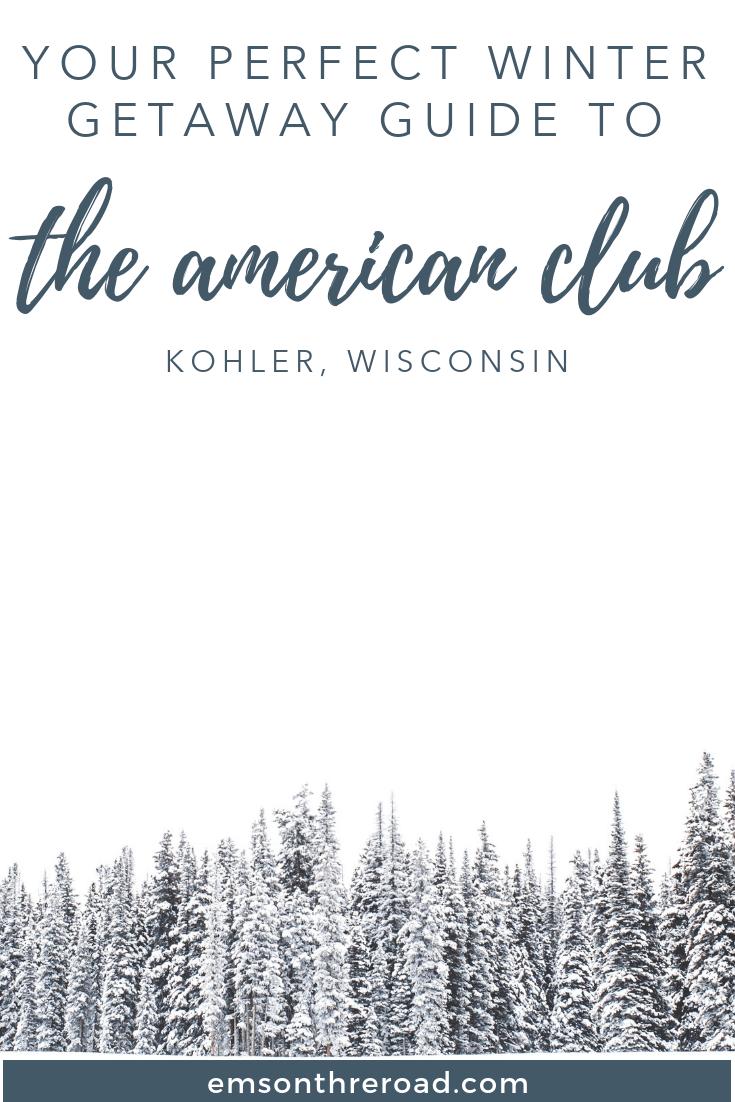 Plan the coziest winter getaway to The American Club in Kohler, Wisconsin #winterwonderland #wintertravel #wisconsin #destinationkohler