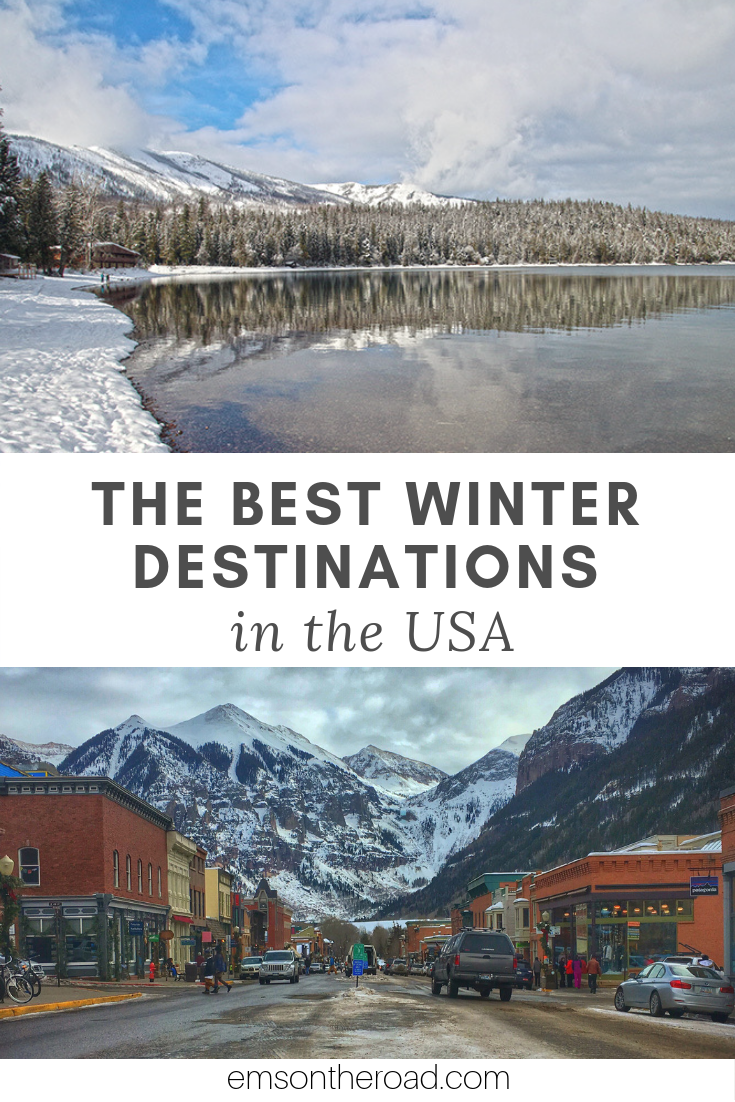Discover the most beautiful winter destinations in the USA. #wintertravel