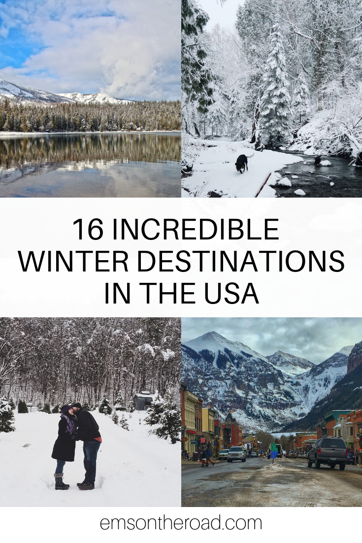 16 Incredible Winter Getaways in the USA #wintertravel #winterwonderland