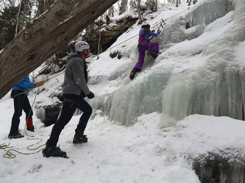 Ice Climbing at Pictured Rocks National Lakeshore in Munising, Michigan