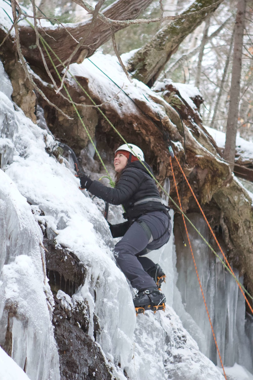 Ice Climbing at Pictured Rocks National Lakeshore