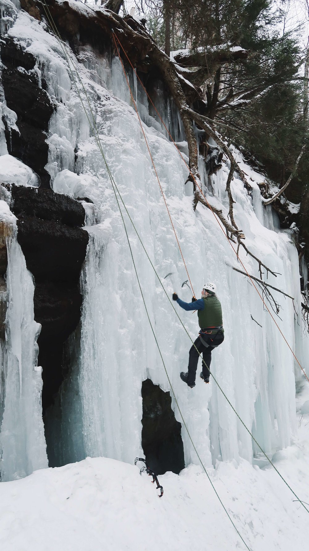 Ice Climbing at Pictured Rocks National Lakeshore: A Winter Adventure You'll Never Forget #puremichigan #travel