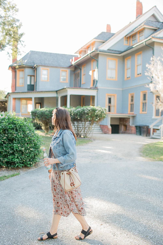 Exploring the historic district on Jekyll Island Georgia