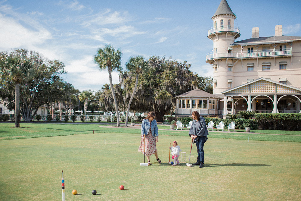 Croquet Lawn at Jekyll Island Club Resort by Caitlin Lee
