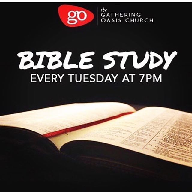 Join us for Bible study tonight as we dive deeper into scripture at 7pm via our YouTube Channel: The Gathering Oasis Church or through our mobile app which can be found under the name, The Gathering Oasis Church.  Tune In! BE encouraged!  #gathergrowgo #thegatheringoasischurch
