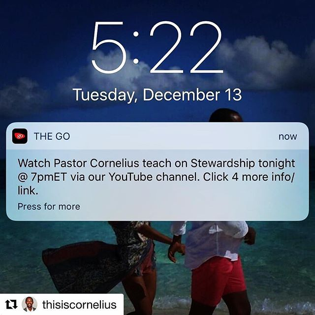 "Click on the link in our app. #Repost @thisiscornelius ・・・ I'm teaching on ""Stewardship"" tonight at 7pm via YouTube for @thegatheringoasischurch bible study. Go to YouTube and subscribe to ""TheGatheringOasisChurch"" channel. Us not having a building doesn't mean we stop being faithful to our call and being edified in the Word. We're faithful no matter the conditions. The link to the teaching for tonight is in @thegatheringoasischurch's bio. I'm looking forward to it. #worldwidebiblestudy #thegatheringoasischurch #stewardship #gathergrowgo #theGOapp"